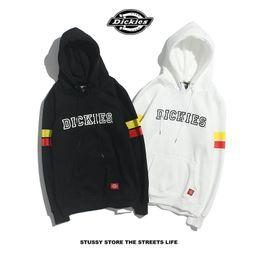 Sales Designer Clothes Canada - Hot Sale Brand Designer Mens Hoodies Sleeve Striped Letters Mens Clothing Hooded Plus Velvet Sweater Designer Clothing for Men