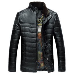 China Winter Jacket Men Cotton and Pu Warm Solid Thicken 2017 Fashion Korea Style Windproof Outwear Coats Plus Size 3XL supplier jacket men style korea suppliers