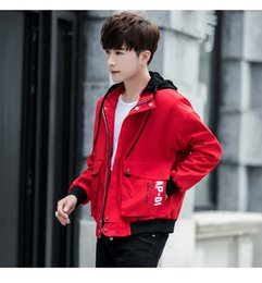 Wholesale Men s jacket spring and autumn new men s casual jacket Korean version of the trend of outdoor sportswear men s clothing