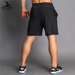bodybuilding gym wear 2019 - BARBOK Gym Shorts Above Knee Men Licras Deportivas Hombre Bodybuilding Sweatpants Sports Wear Fitness Training Running S