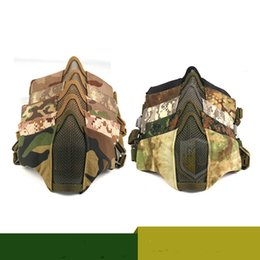 $enCountryForm.capitalKeyWord UK - New half face steel mesh mask, tactical mask, human CS tactical competition protective equipment
