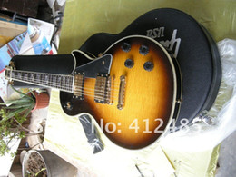 Earth Solid Canada - Custom shop Wholesale - New Arrival LP COSTOM black orange earth head Electric guitar in stock WITH CASE