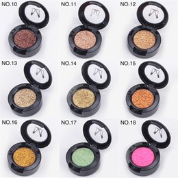 Chinese  Miss Rose Brand Glitters Single Eyeshadow Diamond Rainbow Make Up Cosmetic Pressed Glitter Eye Shadow Palette 24 Colors manufacturers