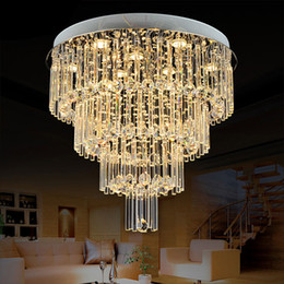 $enCountryForm.capitalKeyWord Australia - New Remote control GU10 LED 3 Brightness Crystal Ceiling Lights Chandeliers Pendant Lights Stairs Lobby Country House Showroom Living lamps