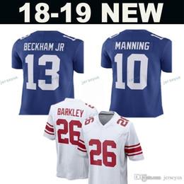34f20698c New York 26 Saquon Barkley 13 Odell Beckham Jr Giants Jersey Men s 10 Eli  Manning 21 Landon Collins 15 Marshall Football Jerseys