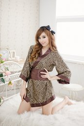 Discount japanese geishas - Japanese kimono traditional girls Geisha cosplay sexy bathhouse womens females suits cosplay sexy leopard print cos Cost