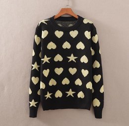 Love stitch cLothing online shopping - 2019 Latest Love the stars Winter Casual Sweater Brand Clothing Long Sleeve Mens Sweaters classic Shirt Pullover O Neck Knitwear