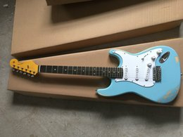 Cheap high quality guitars online shopping - High Quality cheap price GYST Sky Blue color antique Do Old Rosewood fretboard beautiful Electric Guitar Be Customized