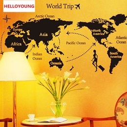 $enCountryForm.capitalKeyWord NZ - DIY Wall Sticker To Travel Around The World All-match Style Wallpapers Art Mural Waterproof Wall Stickers Home Decor