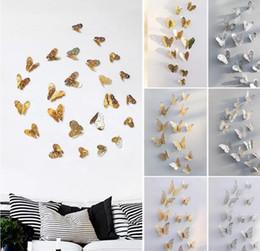 $enCountryForm.capitalKeyWord Australia - 3D Hollow Butterfly Art Wall Stickers Bedroom Living Room Home Decor Kids DIY Decoration 12pcs Set