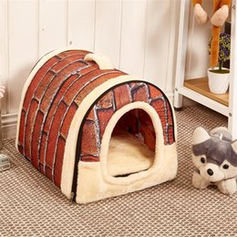hot beds Australia - Hot Sale Removable and Washable Kennel Pet Nest Bed Cat Litter Pet Pad Dog Cage with Handle