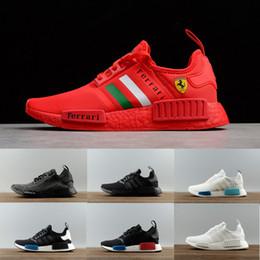 a611d7f9fd1f0 Wholesale AAA+ NMD R1 L0UIS VUITT0N Running Shoes Men Women Primeknit  Triple Black White yellow PK Sneaker Blown red sports Shoes eur 36-45
