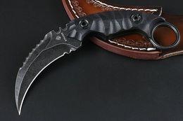strider knives 2019 - HIGH receminded Stretcher - Strider D2 blade 57HRC Black G10 handle folding camping hunting knife folding knife D2 zt 1p