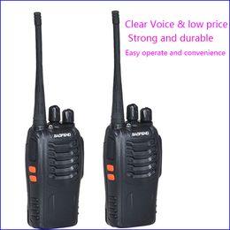 walkie talkie talk 2019 - 2pc Walkie Talkie Two Way Radio Interphone Wireless 888 888s baofeng bf-888s with UHF400-470MHz Walk Talk CB Radio Commu