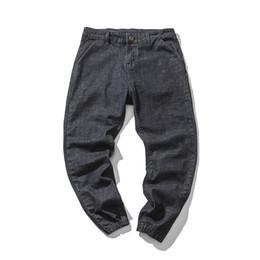 Chinese  2018 Autumn New Men's Jeans Slim Large Size Straight Solid Color Beam Foot Harem Pants Trend Street Hip Hop Men Jeans Pants manufacturers