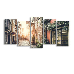 $enCountryForm.capitalKeyWord NZ - 5 pieces high-definition print European landscape canvas painting poster and wall art living room picture PL5-233
