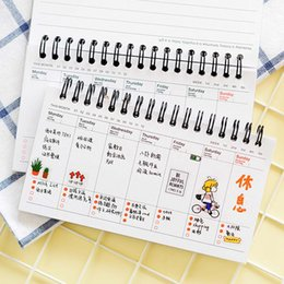 school weekly planner 2019 - Cute Week Plan Memo Book Weekly Daily Planner Notebook Agenda Organizer Stationery School Supplies Random Color cheap sc