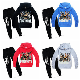 Wholesale Children fortnite tracksuit years big boy long sleeve hoodies sweater jacket with pants suit kids casual outfits on autumn winter