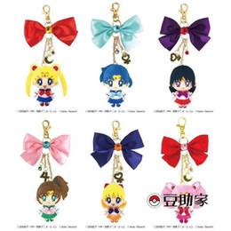 Discount japanese cartoon girl doll - Japanese cartoon cute anime plush doll key chain beautiful girl ornament bag pandent keyring chains new gift for girls