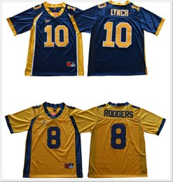 eff008421 California Golden Bears  8 Aaron Rodgers 10 Marshawn Lynch Vintage College  Mens American Football Shirts Jerseys Cheap Stitched Embroidery