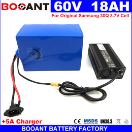Motor Bicycles Australia - 60V 18AH E-bike Lithium Battery For Samsung 30Q 18650 Electric Bicycle Battery 60V for Bafang 800W 1500W Motor Free Shipping