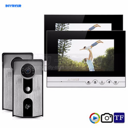 video recording systems 2018 - DIYSECUR 7inch Record Photograph Video Door Phone Doorbell Home Security Intercom System 125KHz RFID Camera IR Night Vis