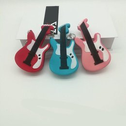 child guitars 2018 - Slow Rising Squishy Toy Guitar Shape Relieves Stress Toys with Keychain for Children Adults Anxiety Attention Home Decor