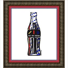 highest quality digital prints UK - Roy lichtenstein COLA SODA POP BOTTLE MR CLEVER Handpainted & HD Printed oil painting On High Quality Canvas Frame Options RY16