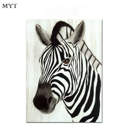 $enCountryForm.capitalKeyWord Australia - Oil painting canvas wall zebra animal handmade oil painting art home kid room wall decor dealer paintings for living room