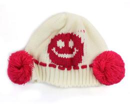 Baby Boy Skull Crochet Beanies Australia - Fashion New 1PC New Baby Girls Boys Cute Knit Crochet Dual Ball Winter Warmer Beanie Cap Hat Kniing Wool White hat