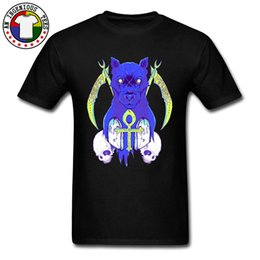 customized printed t shirts UK - Grim Zombie Panther Printed On Tee Shirt Homme 2018 Newest Arrival Slim Fitness Pure Cotton Tops T-Shirt For Men Customized