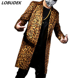 bb9b94ae1b Fashion Leopard Printing Long Suit Jackets Blazers Men s Suits Bar Nightclub  Singer DJ Stage outfit Rock Hip Hop Rock Performance Costumes
