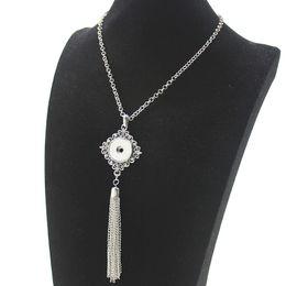 01fd3c469b6b NOOSA borlas botón de presión collares bricolaje 18 mm jengibre Snap  botones joyería Bohemia cristal flor de metal hueco hoja encantos collar