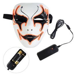 $enCountryForm.capitalKeyWord Australia - El cold light glow mask Gemini Halloween Bar KTV holiday ball led flash face mask for Glowing dance Carnival Party Masks