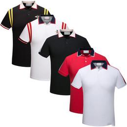 Sh faShion online shopping - 2018 Italian designer polo shirt men s short sleeved t shirt luxury brand printing fashion men s clothing polo high street fashion polo t sh