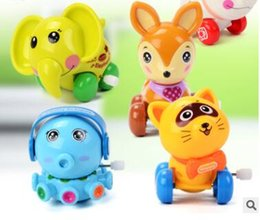 Animal Toys Jump NZ - Animals wind-up toys jump cat deer elephant childrens day christmas gifts wedding party birthday gift cheapest toys 194