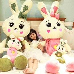 $enCountryForm.capitalKeyWord NZ - kawaii rabbit plush toy jumbo cute white rabbit doll bunny sleeping holding pillow gifts for girlfriend deco 150cm 170cm DY50451