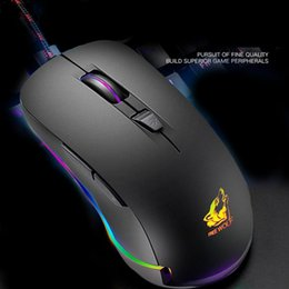 4e596042593 Free Wolf V6 Macro Definition Mouse Mechanical Internet Cafe 4000DPI Wired Gaming  Mouse