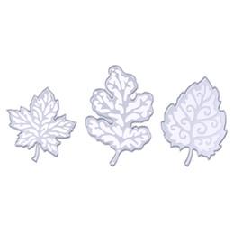 $enCountryForm.capitalKeyWord UK - 3Pcs Pretty Leaves Dies Cutting Dies for DIY Scrapbooking Dies Cuts Photo Album Decorative Embossing Folder Metal Stencil