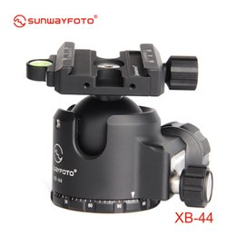 Monopod For Dslr Camera NZ - SUNWAYFOTO XB-44 Low-Profile Tripod head for DSLR Camera Tripode Ballhead Professional Monopod Panoramic Tripod Ball Head