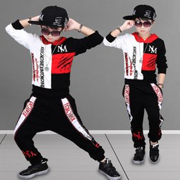 Wholesale boys hip hop pants kids resale online - Kids Clothing Boys Sports Sets Cartoon Hip Hop T shirt Pants Suit Christmas Autumn Child Leisure Long Sleeve Home Clothing WX9