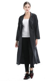 Wholesale european fashion trench coats resale online - NEW ARRIVALS RifOuting Spring Autumn Women European style Long Sleeve Trench Coat Street Fashion Plus Size Women Long Coat