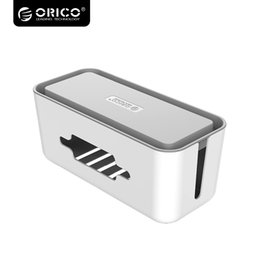 Discount multi power socket - ORICO Multi Devices Cable Winder Storage Box For Power Socket Manager Box With Phone Holder Power Strip Organizer Case C