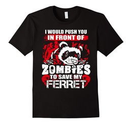 China Ik Push U In Voor Zombies Besparen Mijn Fret T-Shirt Print T-shirts Mannen Hot Top Tee Tops Tees Mannen 100% Katoen suppliers