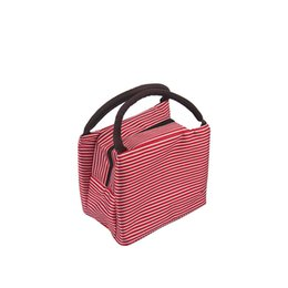 Discount lunch bags for kids - Stripe Lunch Bag Thermal Portable Cooler Bag Storage Thick Lunch Bags For Women Kids Bento Picnic Box #c