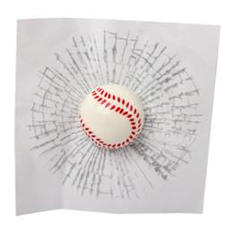 3d ball window sticker 2019 - Window Sticker Auto Decals 3D Car Stickers Baseball Tennis Football Accessories Ball Hits Car Body Car Styling Funny che