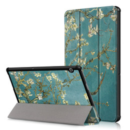 """$enCountryForm.capitalKeyWord UK - 50Pcs PU Leather Stand Cover Case for Huawei MediaPad T5 10 AGS2-W09 AGS2-L09 AGS2-L03 10.1"""" Tablet + Screen Protector"""