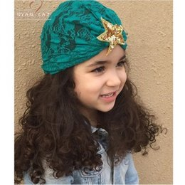 Free Delivery 2018 New Lace Hat Sequin Star Fashion In 6 Colors Headbands Birthday Gift Hair Accessory Ornament Baby Wear