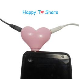 $enCountryForm.capitalKeyWord Australia - 3.5mm Headphone Splitter Heart Shape Stereo Audio Jack Adapter Splitter Cable Male to 2 Female