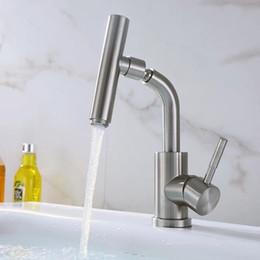 Torneira Da Cozinha Aço Inoxidável 304 Níquel Escovado Bacia Navio Sink Mixer Torneira 360 Graus Bico Giratório E Corpo Torneira venda por atacado